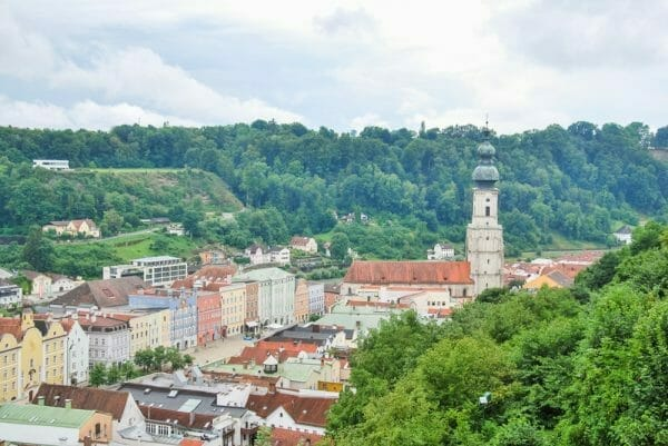 View from Burghausen