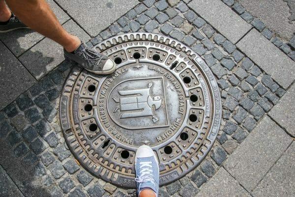 Storm drain in Munich