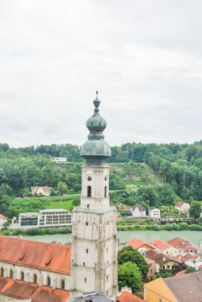 Church tower in Burghausen