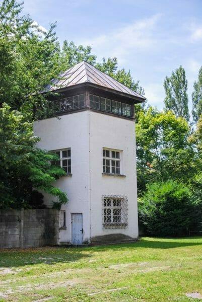 Guard tower in Dachau