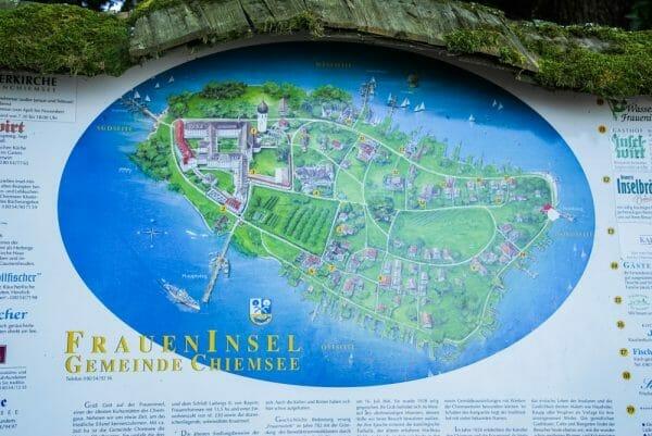 Herrenchiemsee Castle map