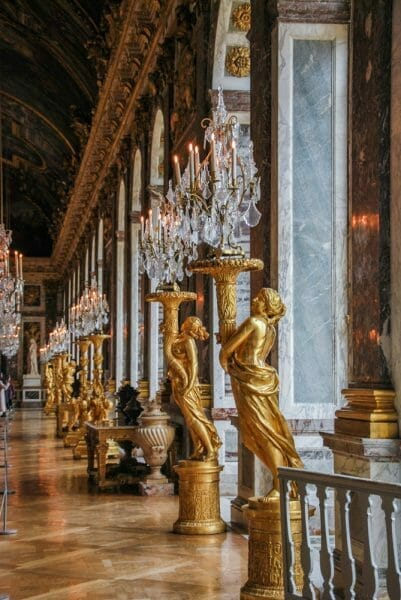 Gold statues in Versailles