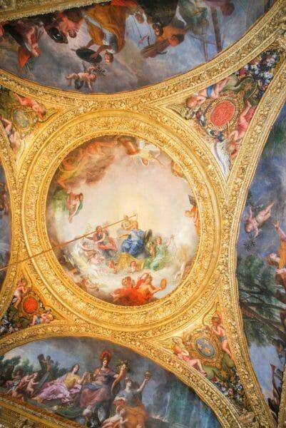 Renaissance painting on Versailles ceiling