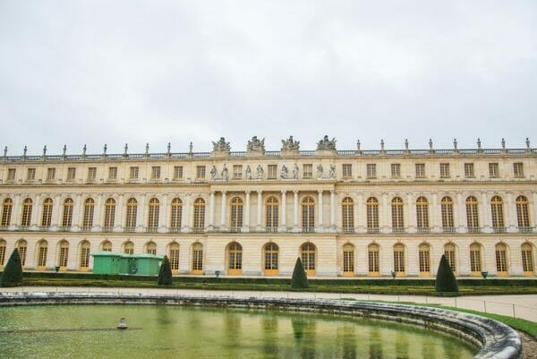 Back of Versailles with fountain