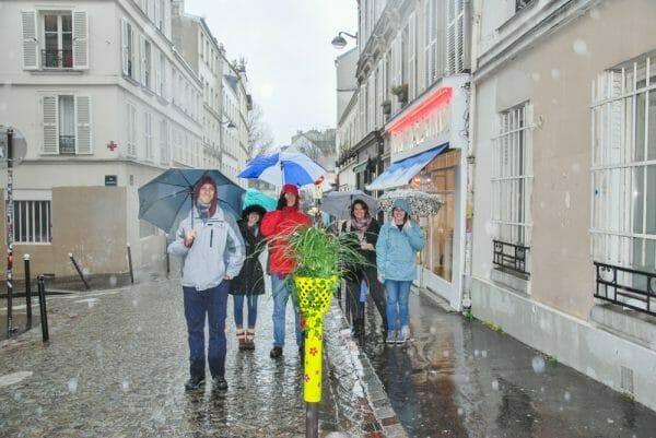 Rainy street in Paris