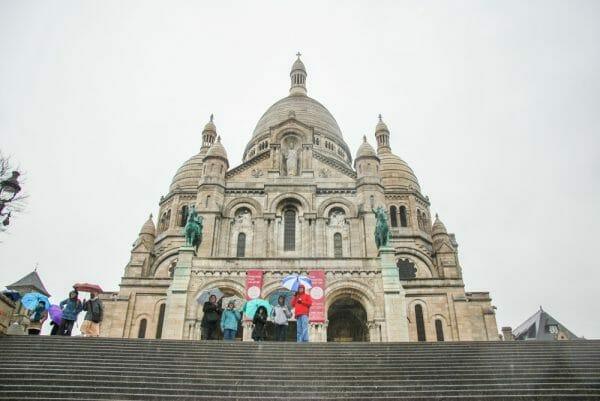 Front of Sacré-Cœur in Paris
