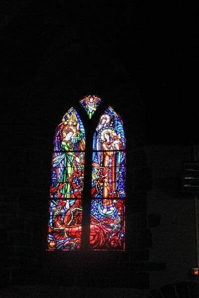 Stained glass window in a church in Nantes