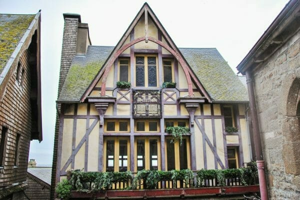 Half timbered house in Nantes