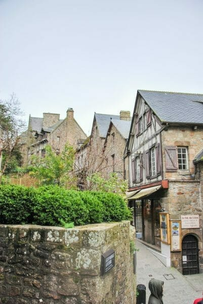 Half timbered houses in France