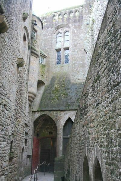 Stone wall on Mont Saint-Michel