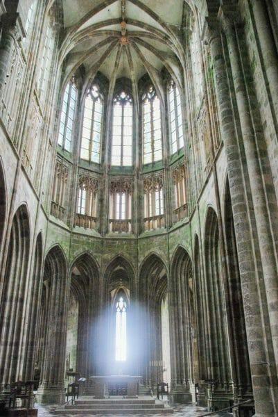 Church windows in Mont Saint-Michel