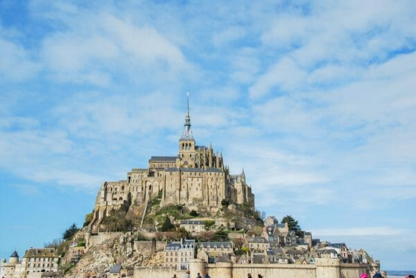 Mont Saint-Michel on a sunny day