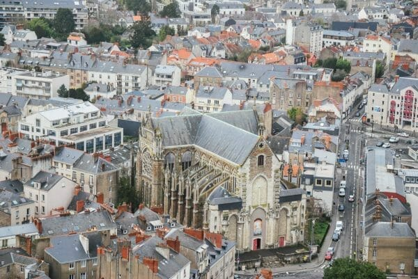 Aerial view of Nantes
