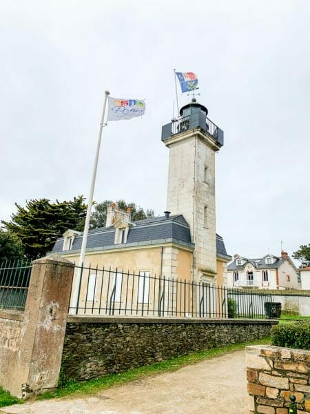 Historic lighthouse in Pornic, France