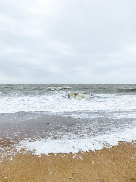 Beach in Pornic, France