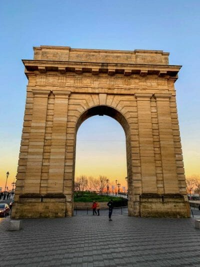 Gate in Bordeaux at sunset