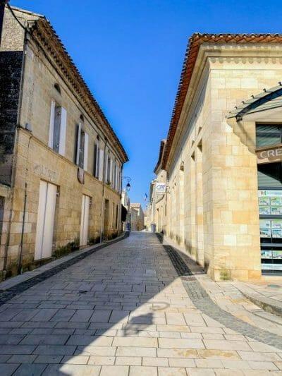 Stone street in Saint Emilion