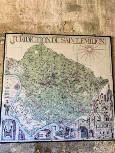Map of Saint Emilion
