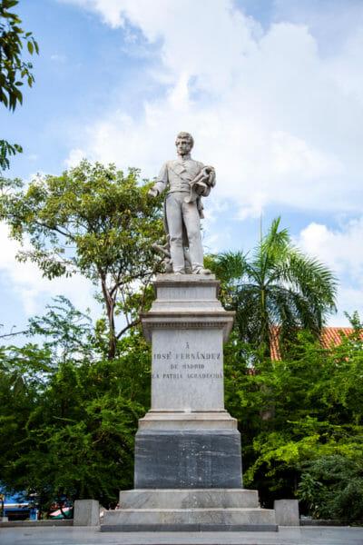 Jose Fernandez statue in Cartagena