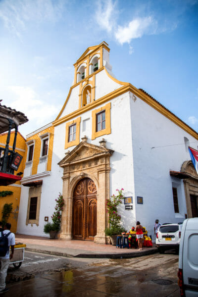 Historic churches in old city Cartagena