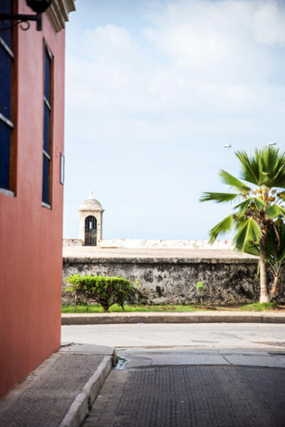City wall in Cartagena