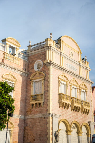 Historic theater in old city Cartagena