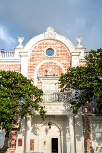 Historic brick building in Cartagena