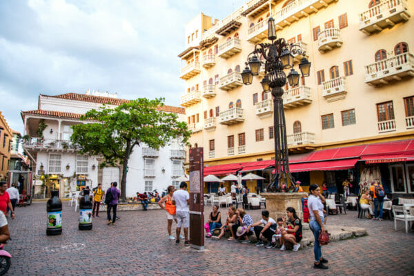 Town square in Cartagena