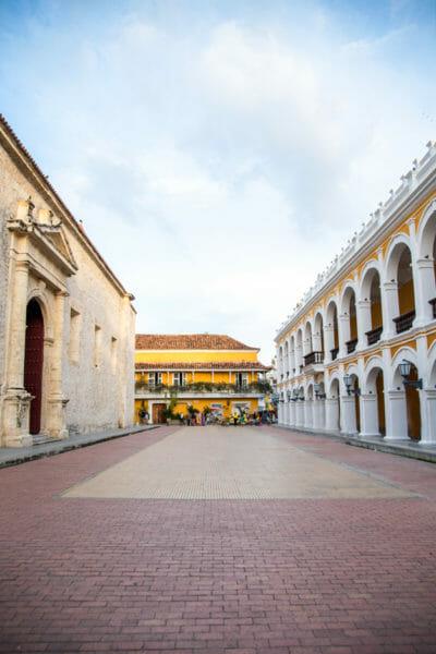Historic buildings in old city Cartagena