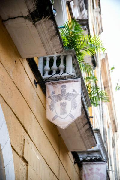 Medieval banner in Cartagena