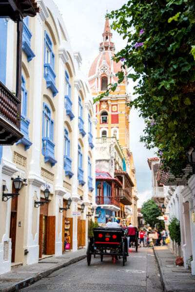 Cartagena Cathedral and horse drawn carriage
