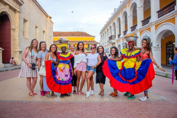 Palenqueras women in Cartagena