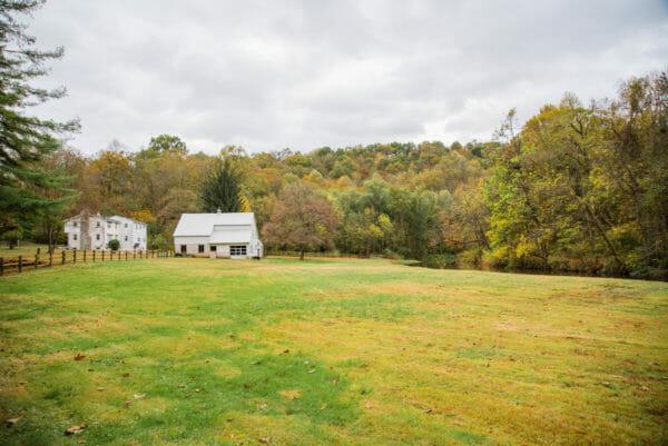 White barn in Lancaster, PA