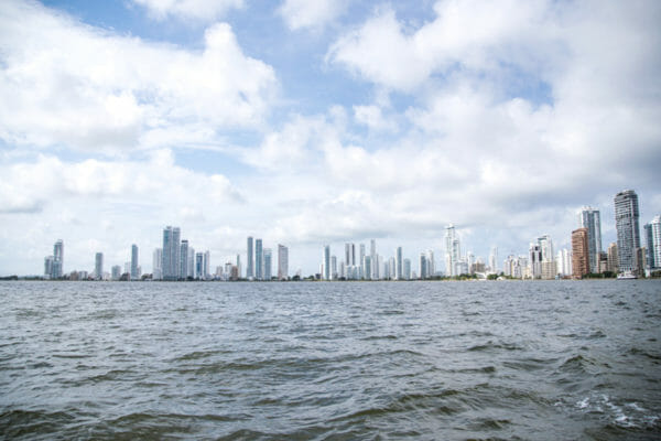 Cartagena skyline from the water
