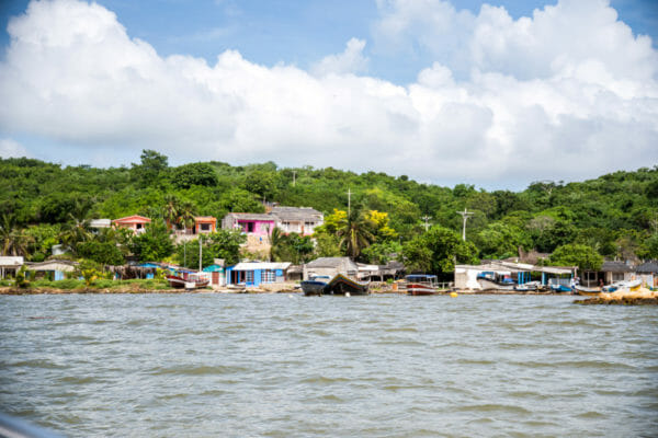 Colorful houses on Rosario Islands