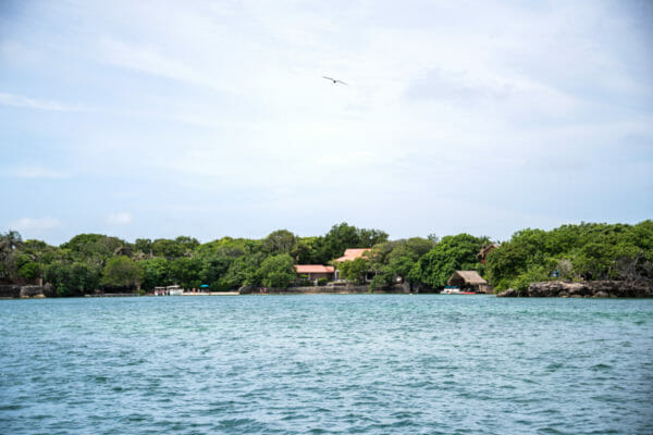 Houses on Rosario Islands