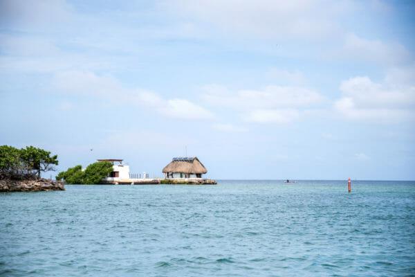 Straw hut on Rosario Islands