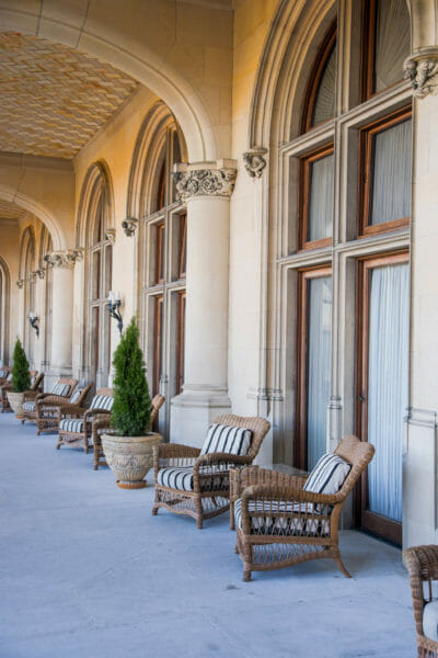 Chairs on the Biltmore balcony