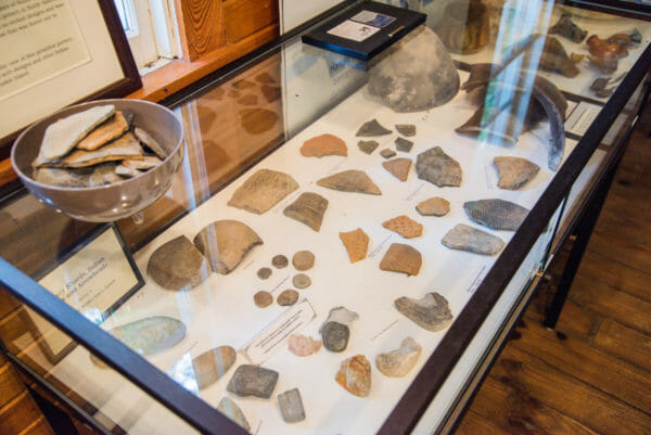 Stone artifacts at Daufuskie Island History Museum
