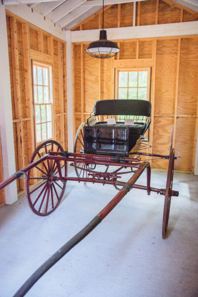 Midwife carriage at the Daufuskie Island History Museum