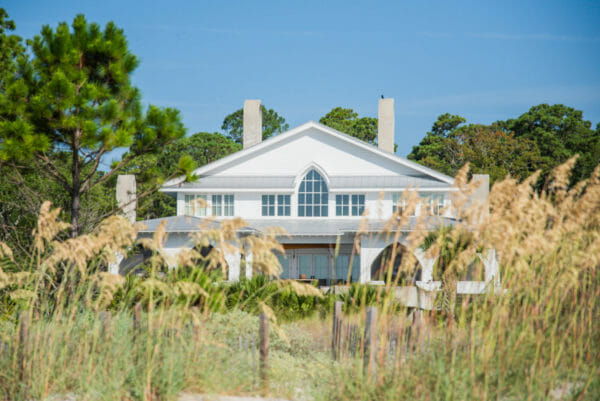 White beach house on Daufuskie Island