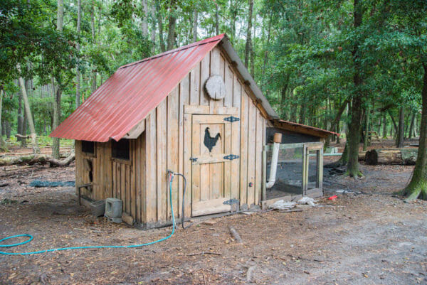 Chicken house at Daufuskie Island Community Farm
