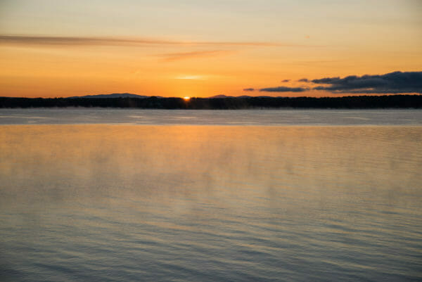 Sunset at Lake Champlain