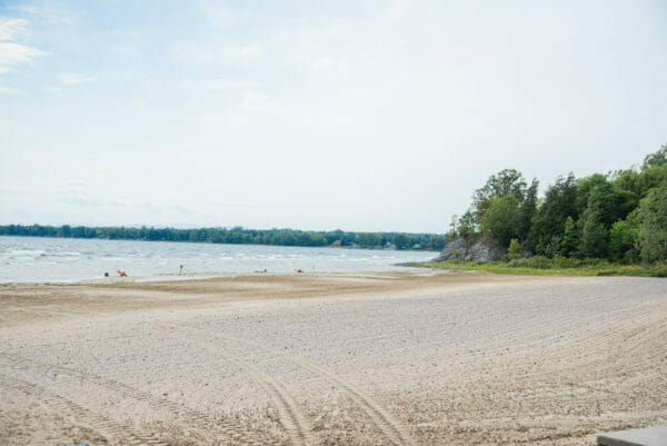 Beach at Point au Roche State Park in Plattsburgh, NY