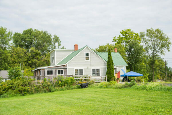 Artisan store with large yard at Grand Isle State Park, Vermont