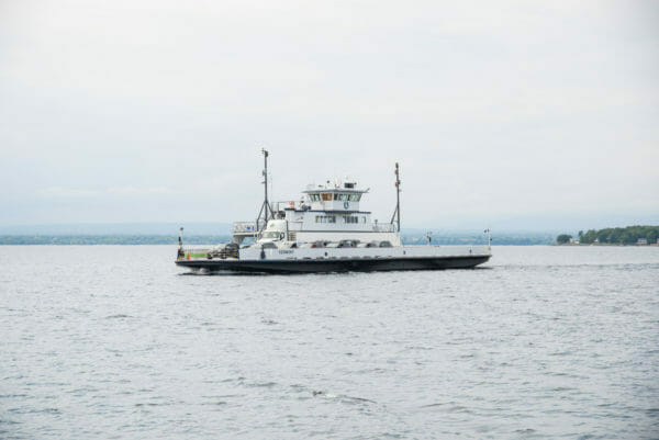 Carry ferry on Lake Champlain