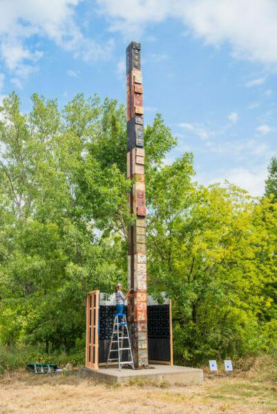 World's tallest filing cabinet in Burlington