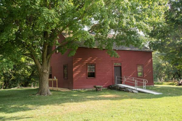Ethan Allen red house in Burlington