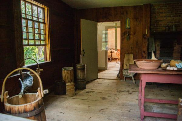 Kitchen inside Ethan Allen home