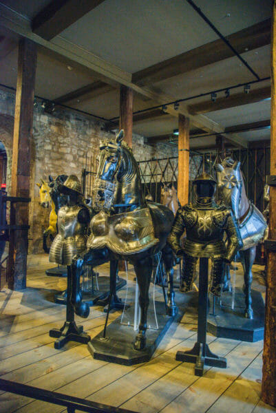 Armor for horses at the Tower of London